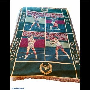 Vintage Granny Blanket Volleyball Tennis Print